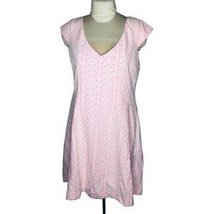 Lilly Pulitzer Sheath Dress Cap Sleeve V-Neck Pink